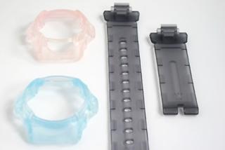 樹脂製腕時計のウレタンコート